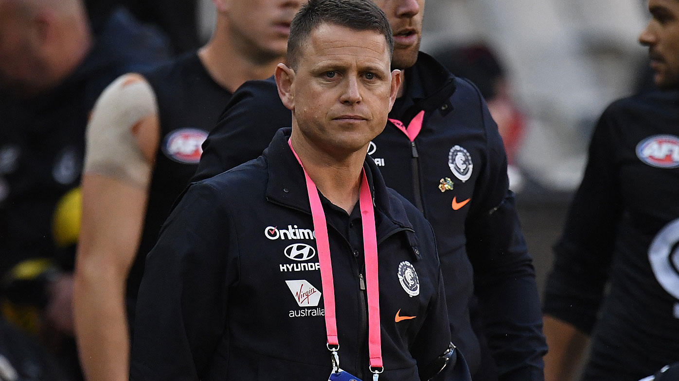 Coach of the Blues Brendon Bolton
