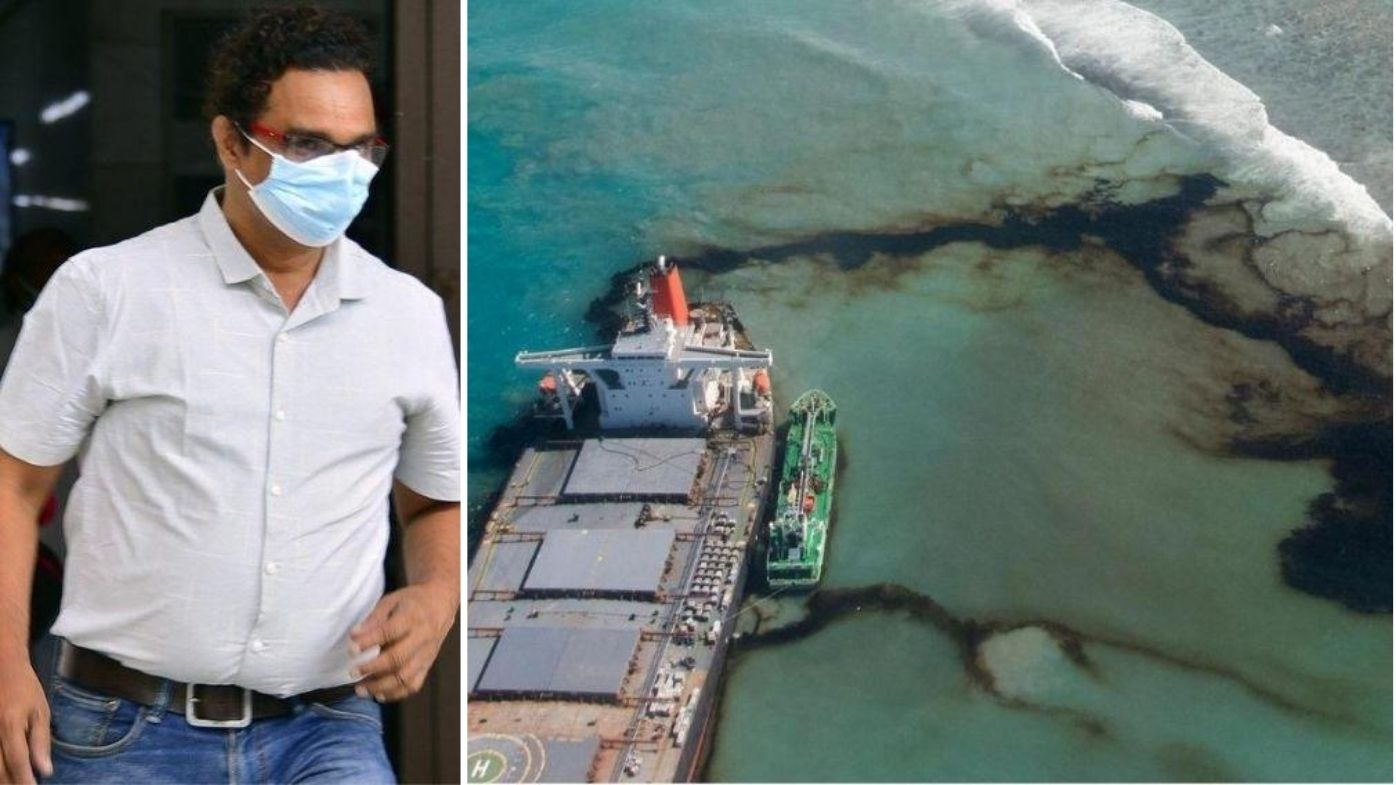 Captain of Mauritius oil spill tanker arrested and charged over 'catastrophe'