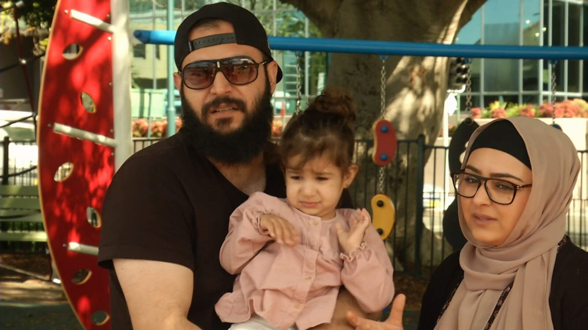 Destiny with her mother Badriah Al-Achrafe and father Herman Shrief.