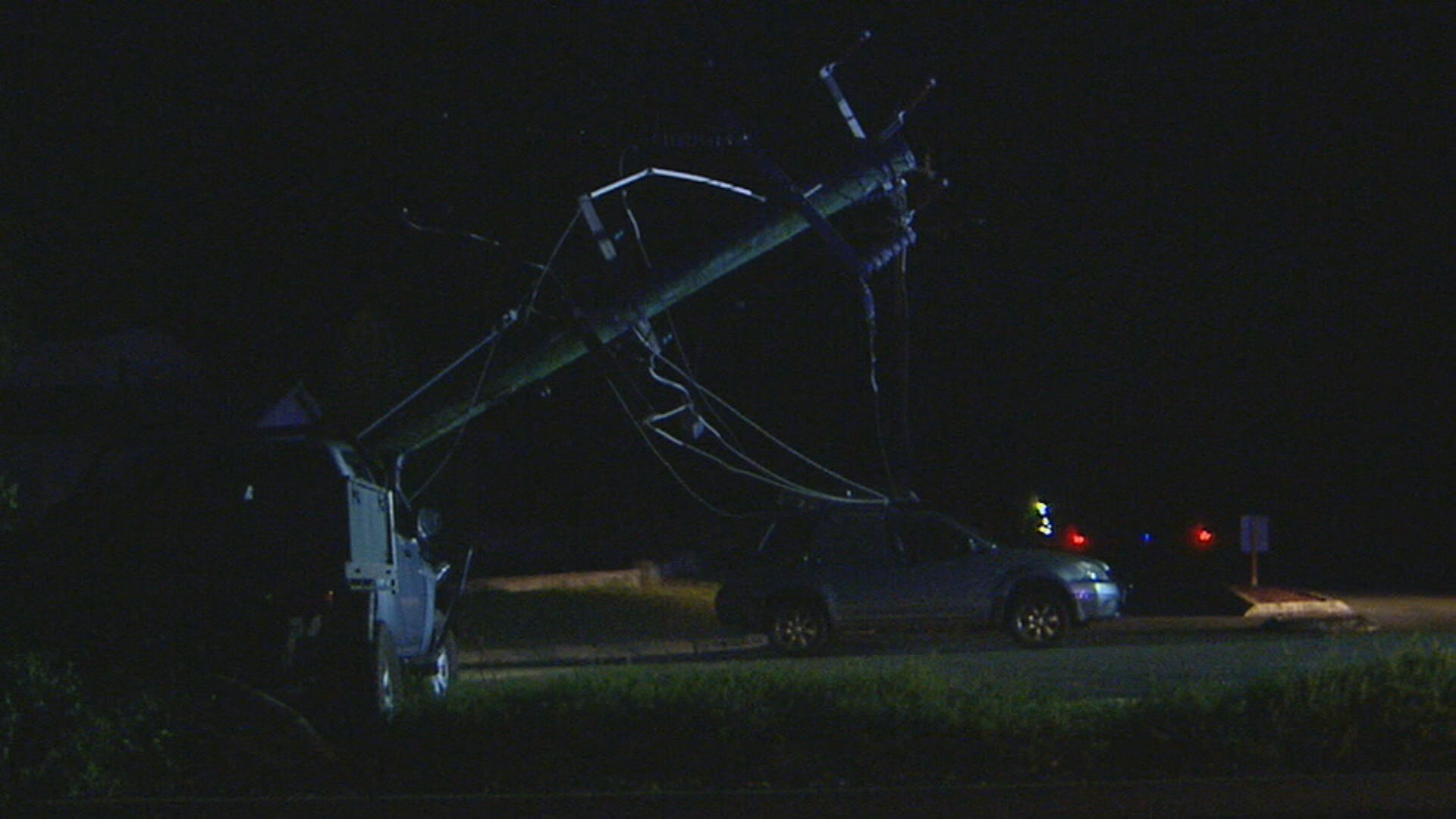 Driver accused of causing car accident that left mother and child trapped under active power lines