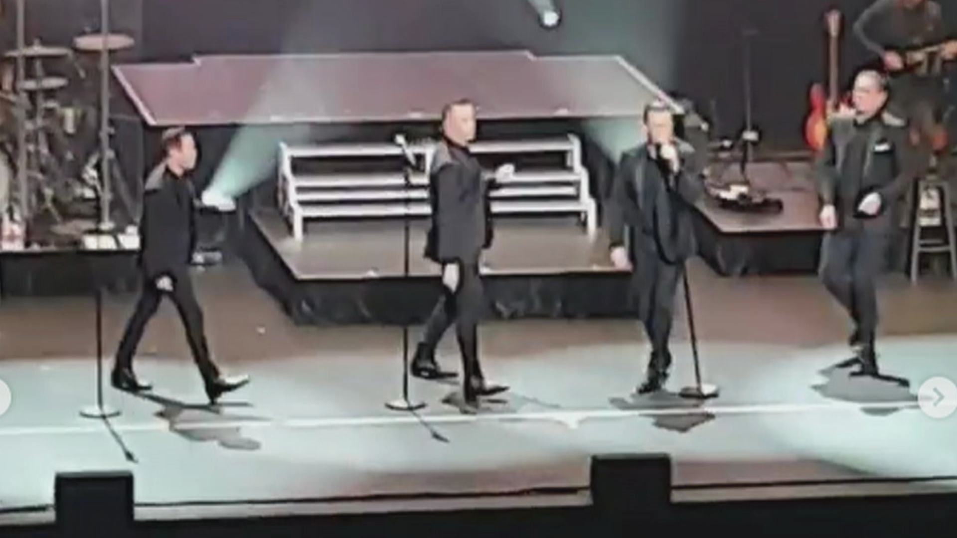 Human Nature performing at the Sydney Coliseum in West HQ at the Rooty Hill RSL.