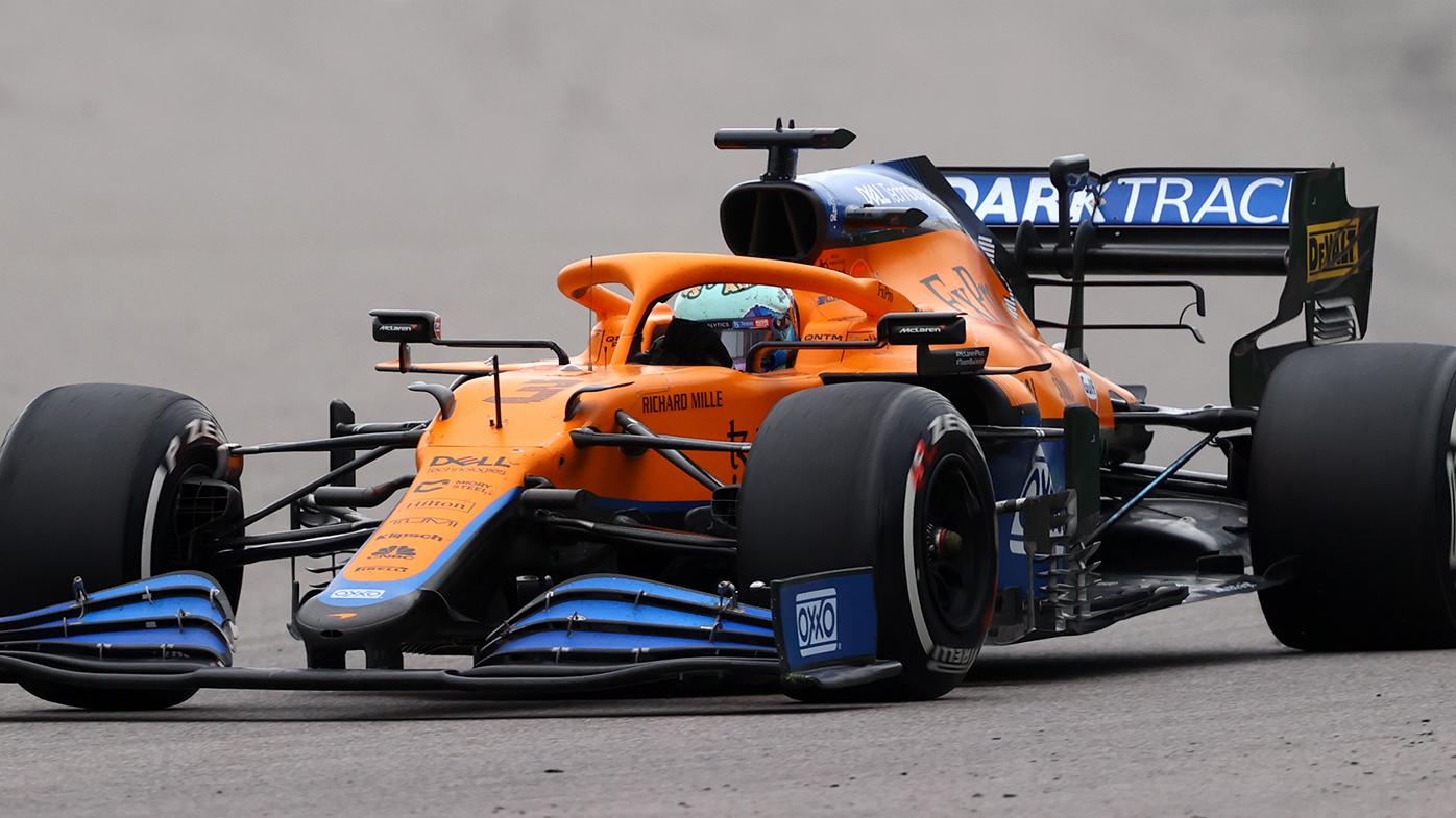 Daniel Ricciardo on the way to his fourth place finish at the Russian Grand Prix.
