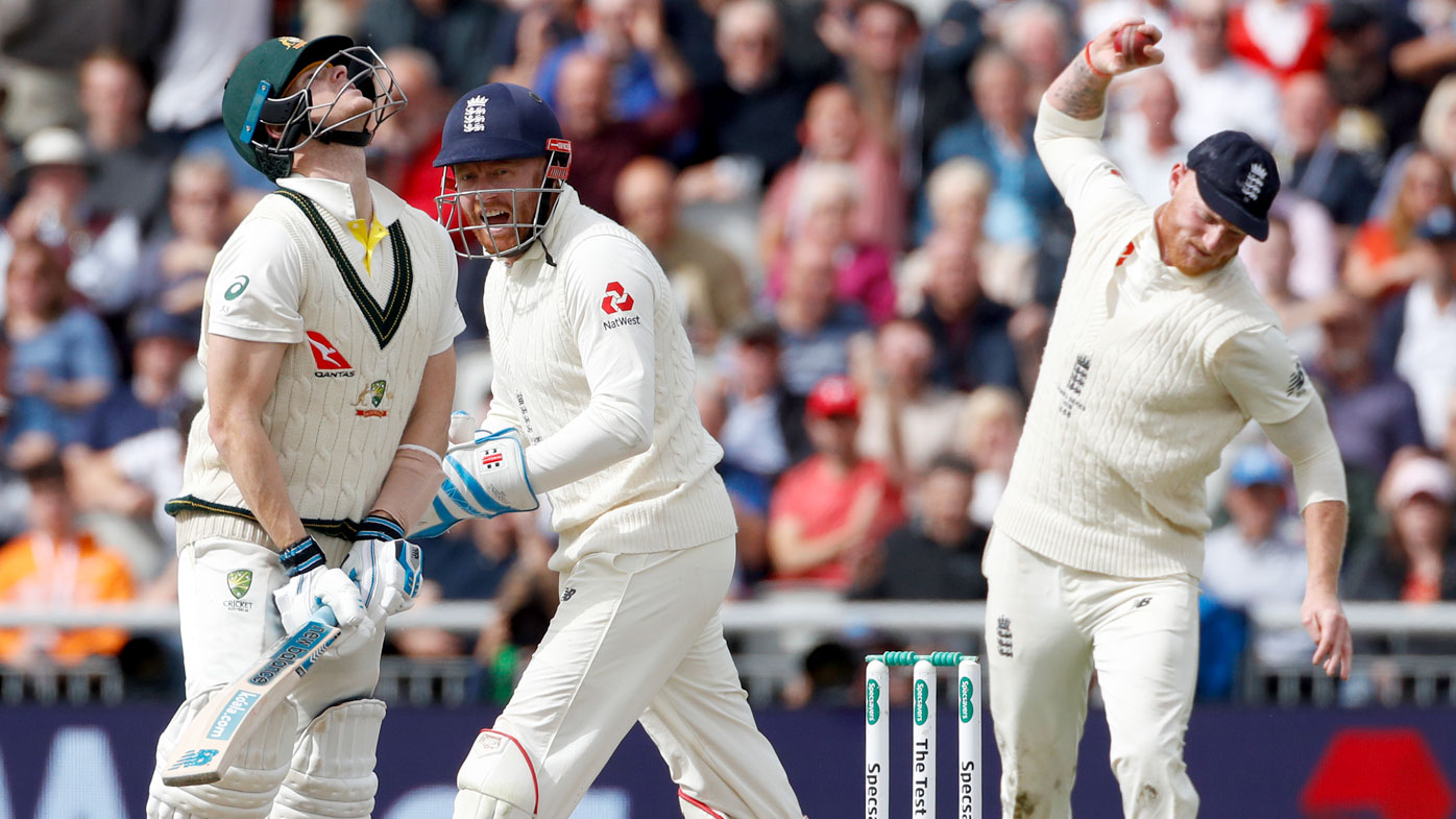 Stokes thought he had Smith caught off the bowling of Leach