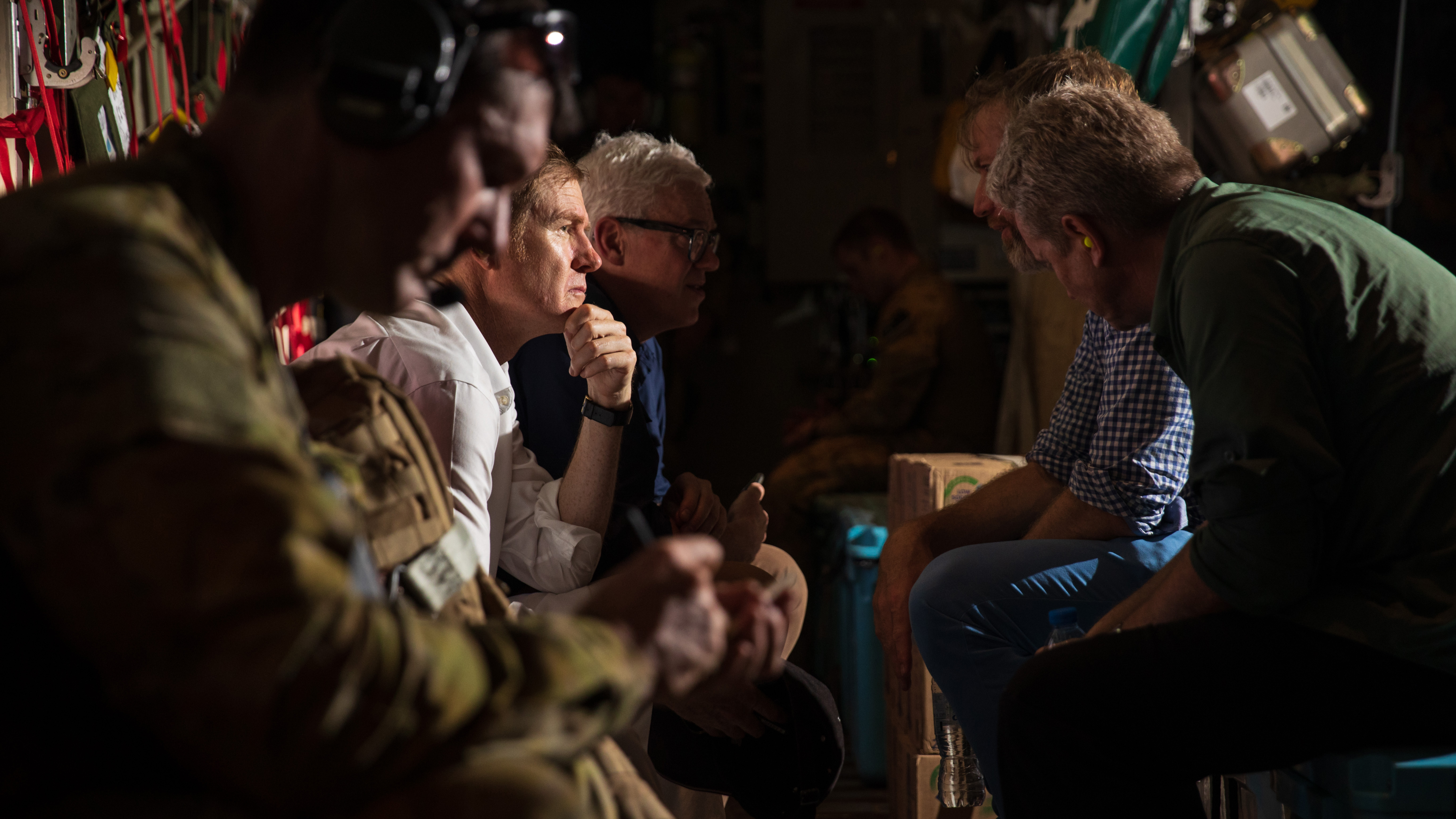 The first Australian Defence Force evacuation flight has departed Kabul with 26 persons on board.