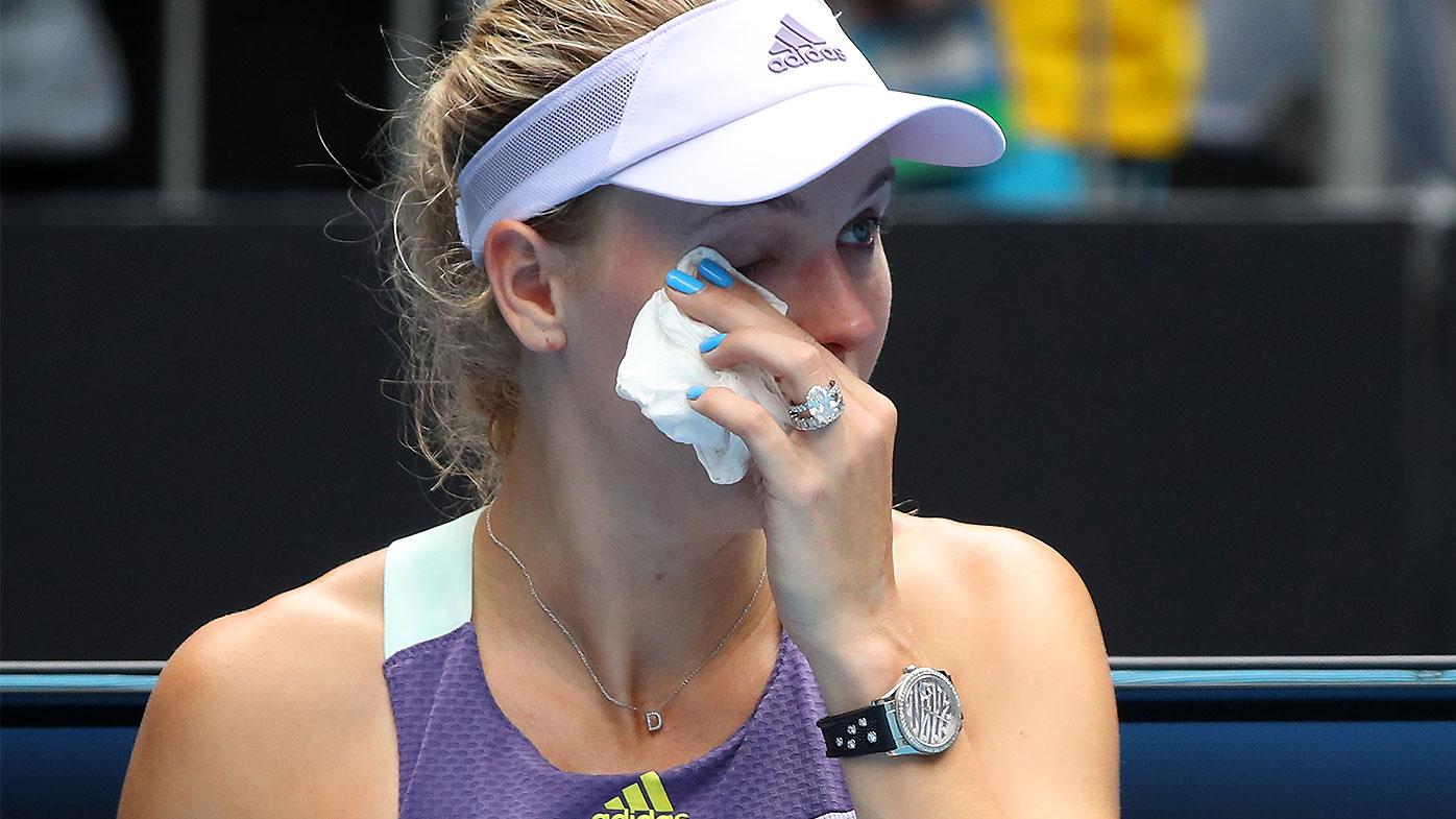 Wozniacki's emotional reaction to final match