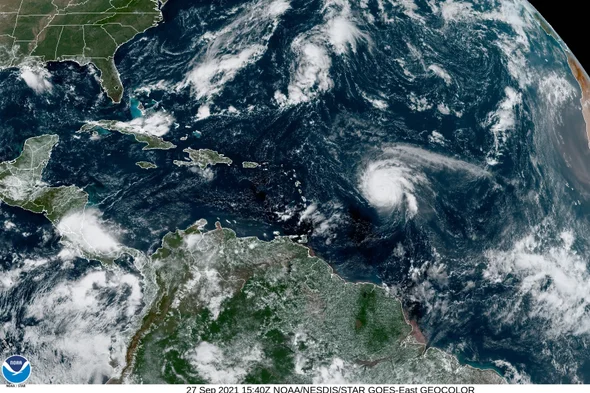Hurricane Sam became a category four storm over the weekend.