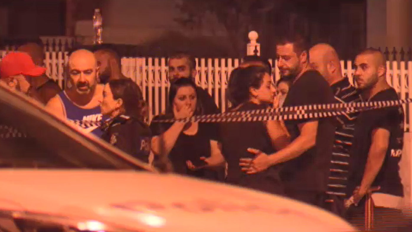 The 45-year-old's family and friends rushed to the scene after news of the shooting broke.