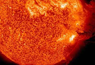 Solar flare on the Sun (Getty)