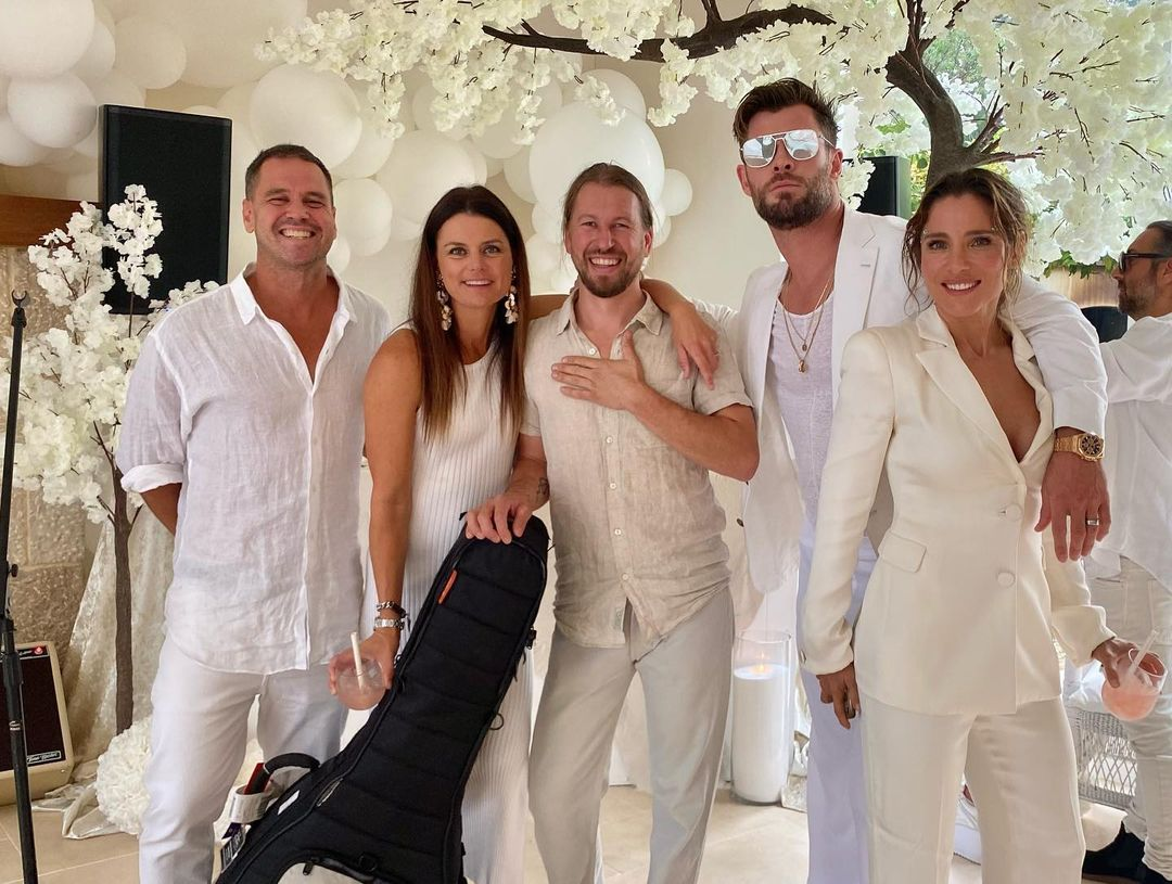 Elsa Pataky and Chris Hemsworth hosted a star-studded white party