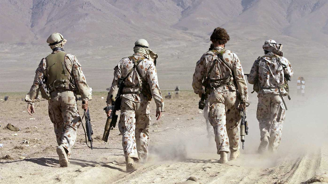 SAS soldiers take part in a training exercise in Afghanistan in 2002.