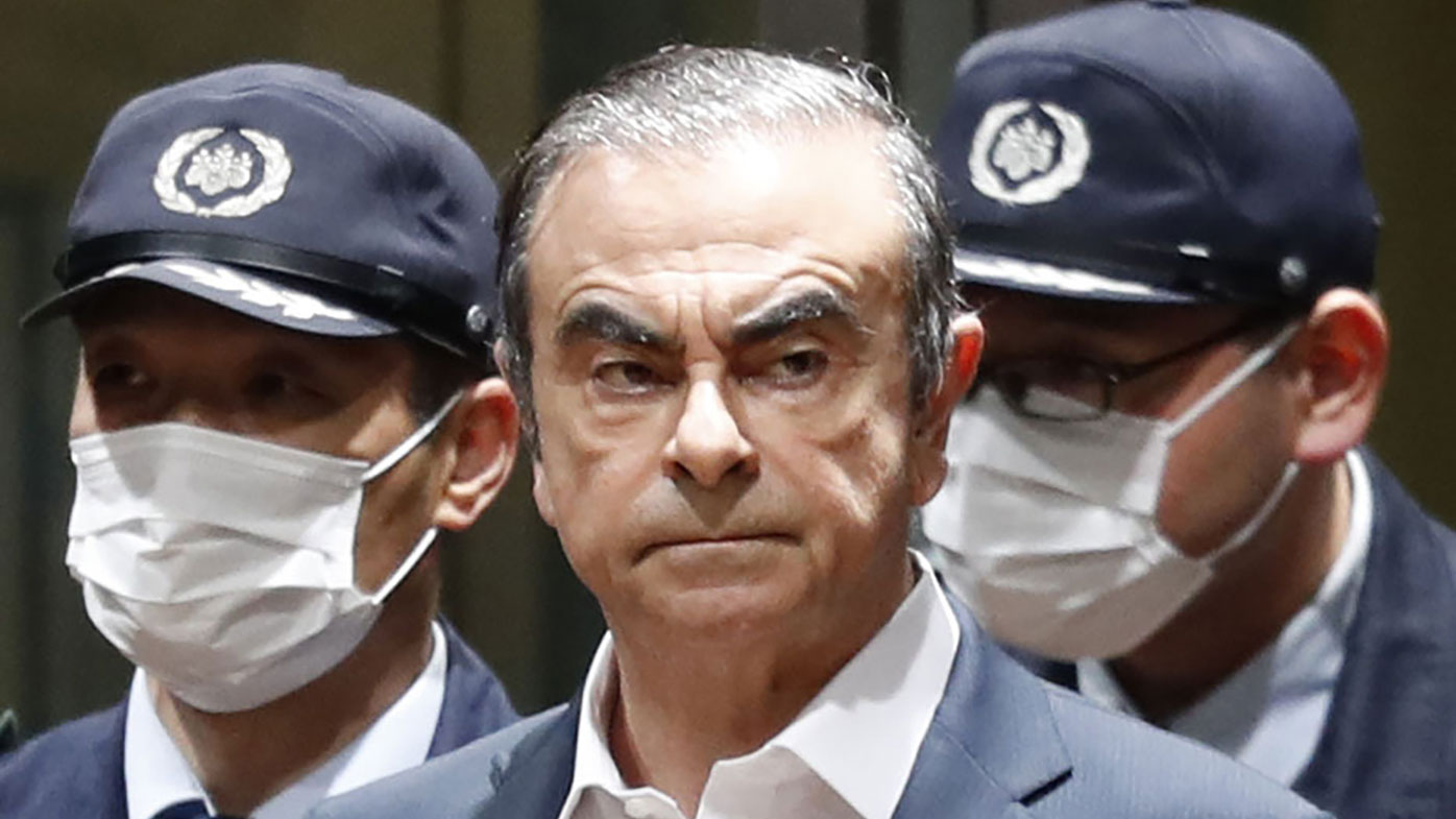 In this May 11, 2012, file photo, then Nissan Motor Co. President and CEO Carlos Ghosn speak during a press conference in Yokohama, near Tokyo. A close friend says Monday, Dec. 30, 2019 that Ghosn, who is awaiting trial in Japan, has arrived in Beirut. It was not clear how Ghosn, who is of Lebanese origins, left Japan where he is under surveillance and is expected to face trial in April 2020