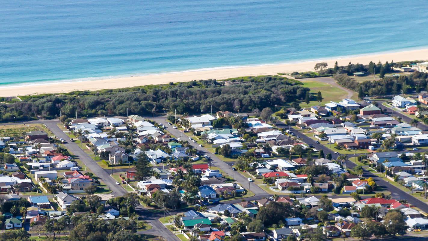The teen visited Blacksmiths Beach in Lake Macquarie.