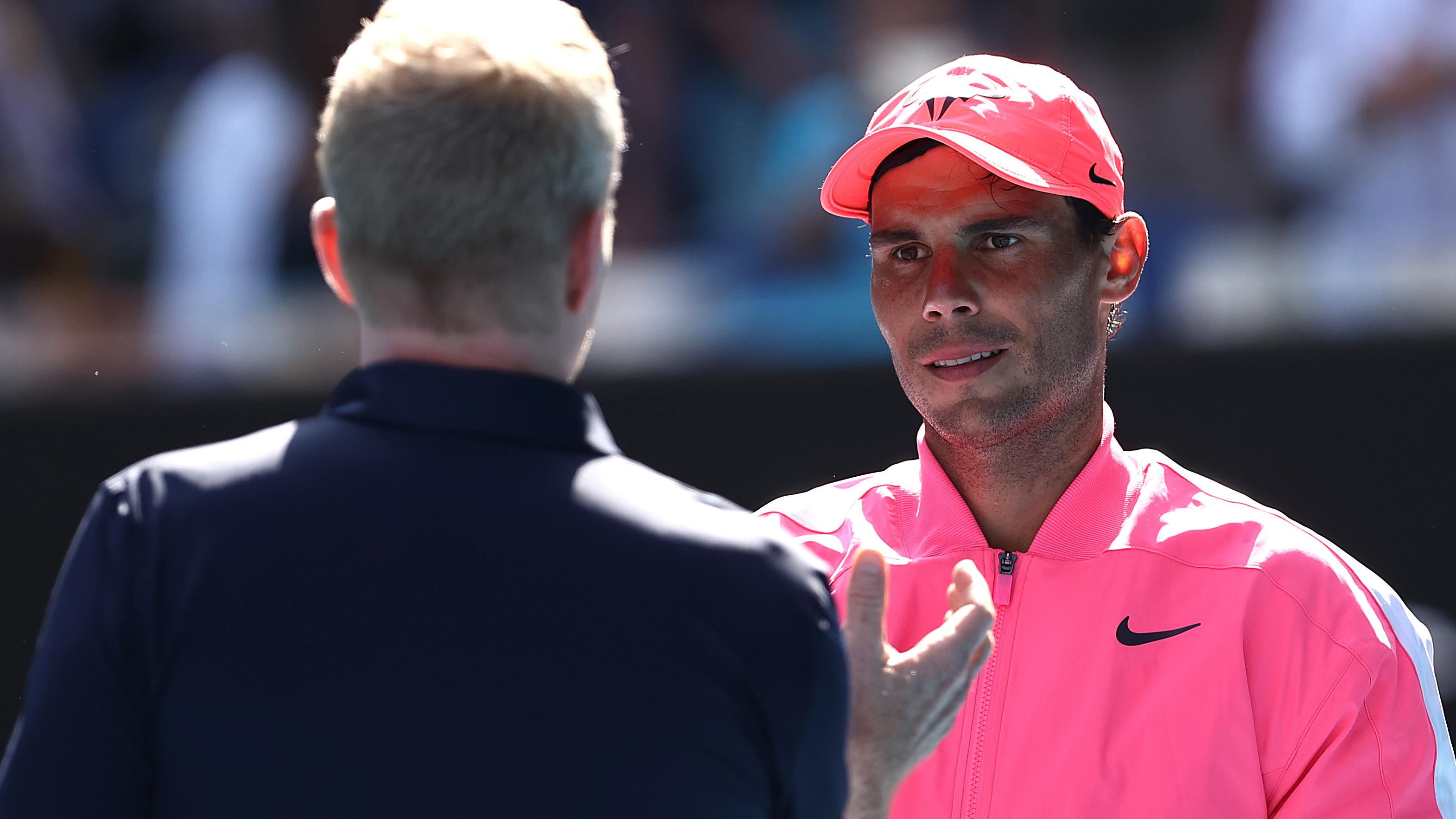 Rafael Nadal Jim Courier Interview Australian Open First Round
