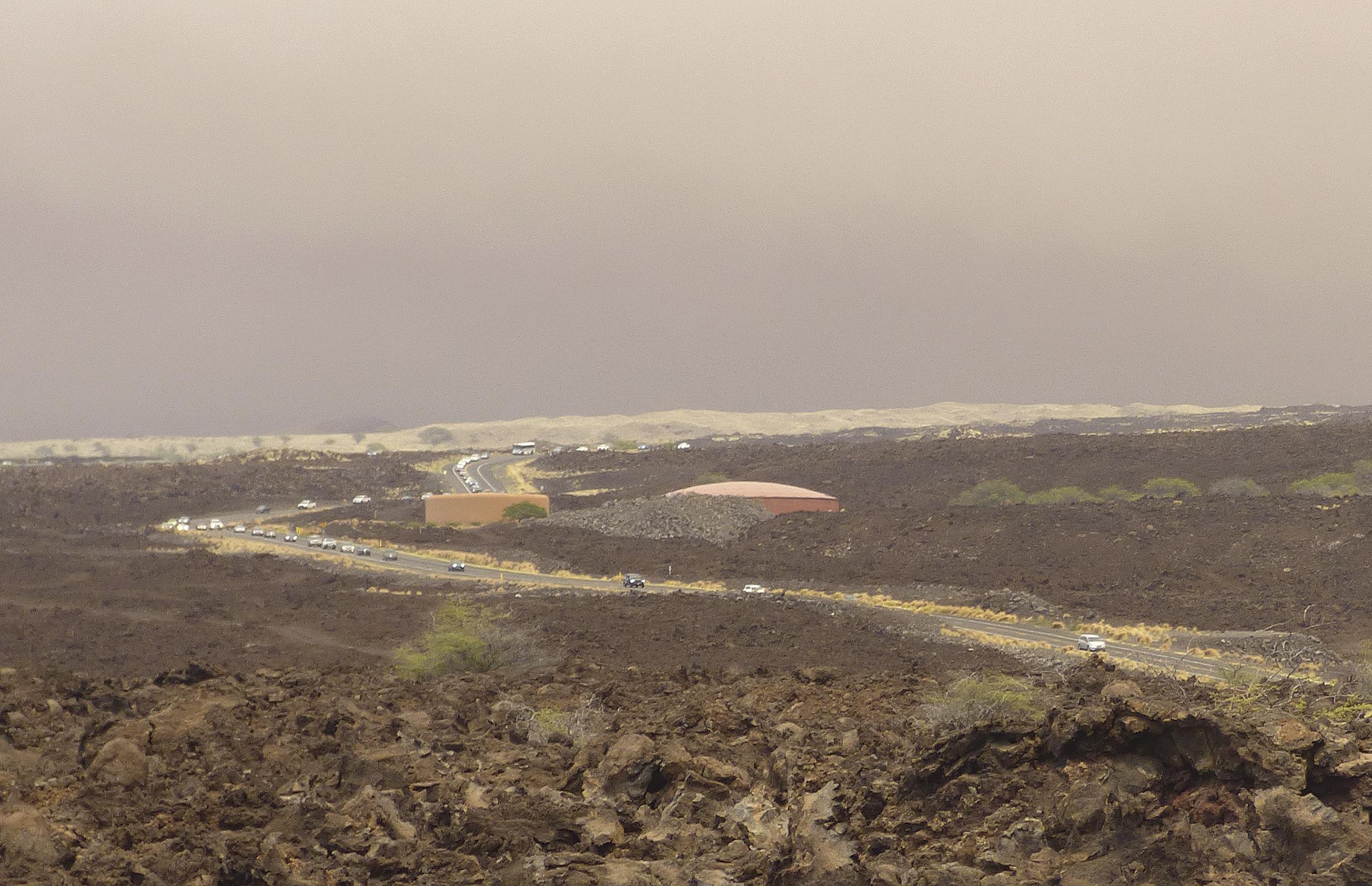 Record wildfire burns on Hawaii's Big Island