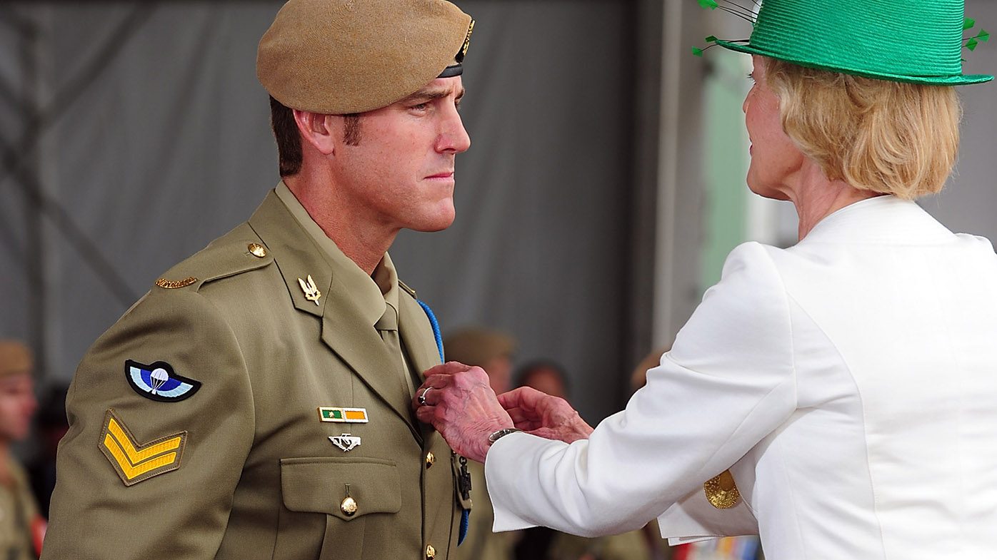 Benjamin Roberts-Smith is awarded his Victoria Cross by then-Governor-General Quentin Bryce on January 23, 2011.