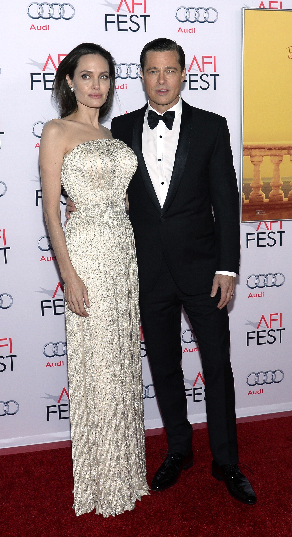 Angelina Jolie, Brad Pitt. movie premiere, red carpet