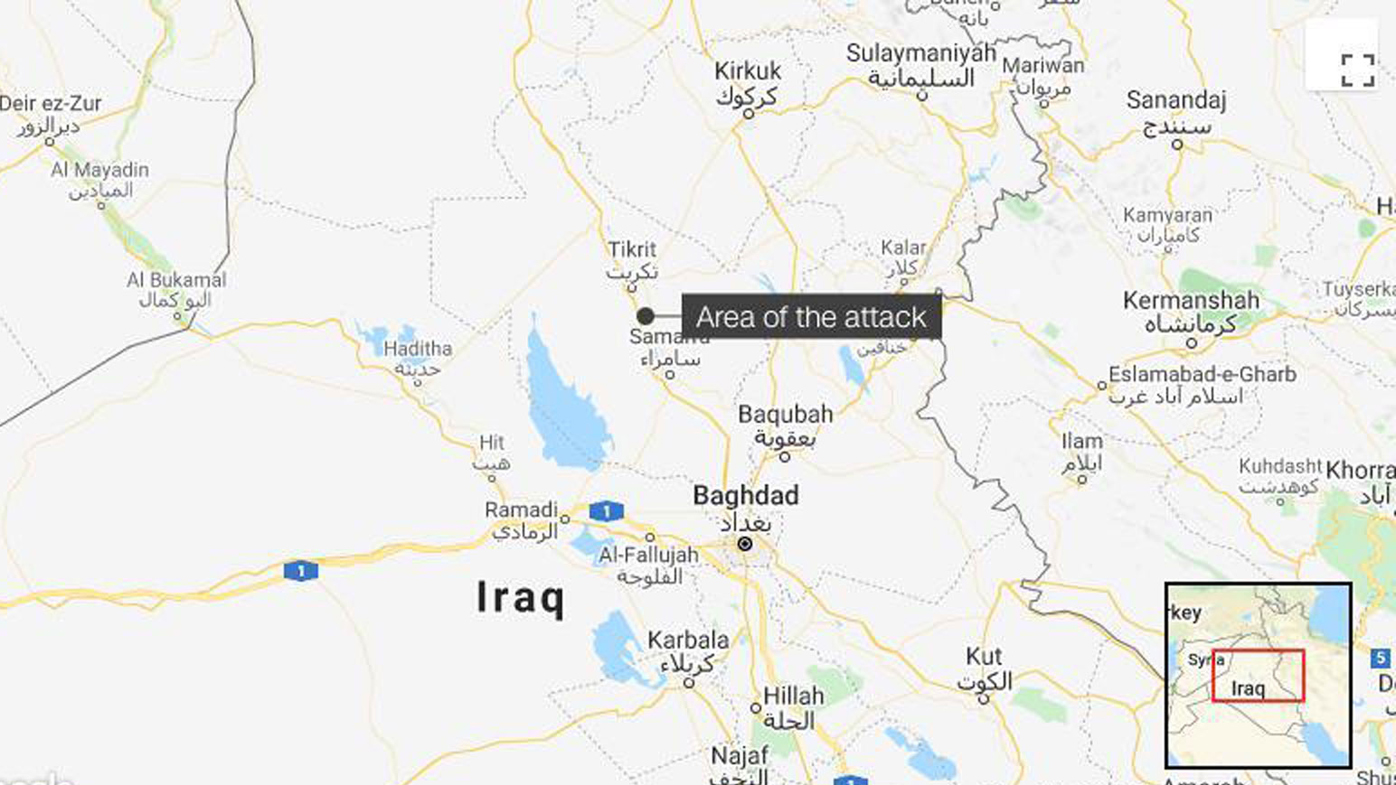 The attacks killed eight people north of the Iraqi capital.
