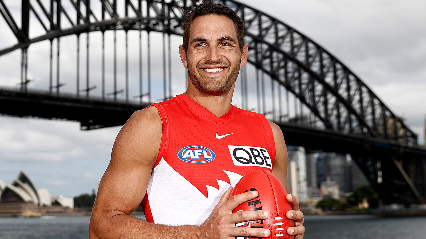 MARCH 10: Josh P. Kennedy of the Swans , poses during the 2021 AFL Captain's Day on March 10, 2021 in Sydney, Australia. (Photo by Ryan Pierse/Getty Images)
