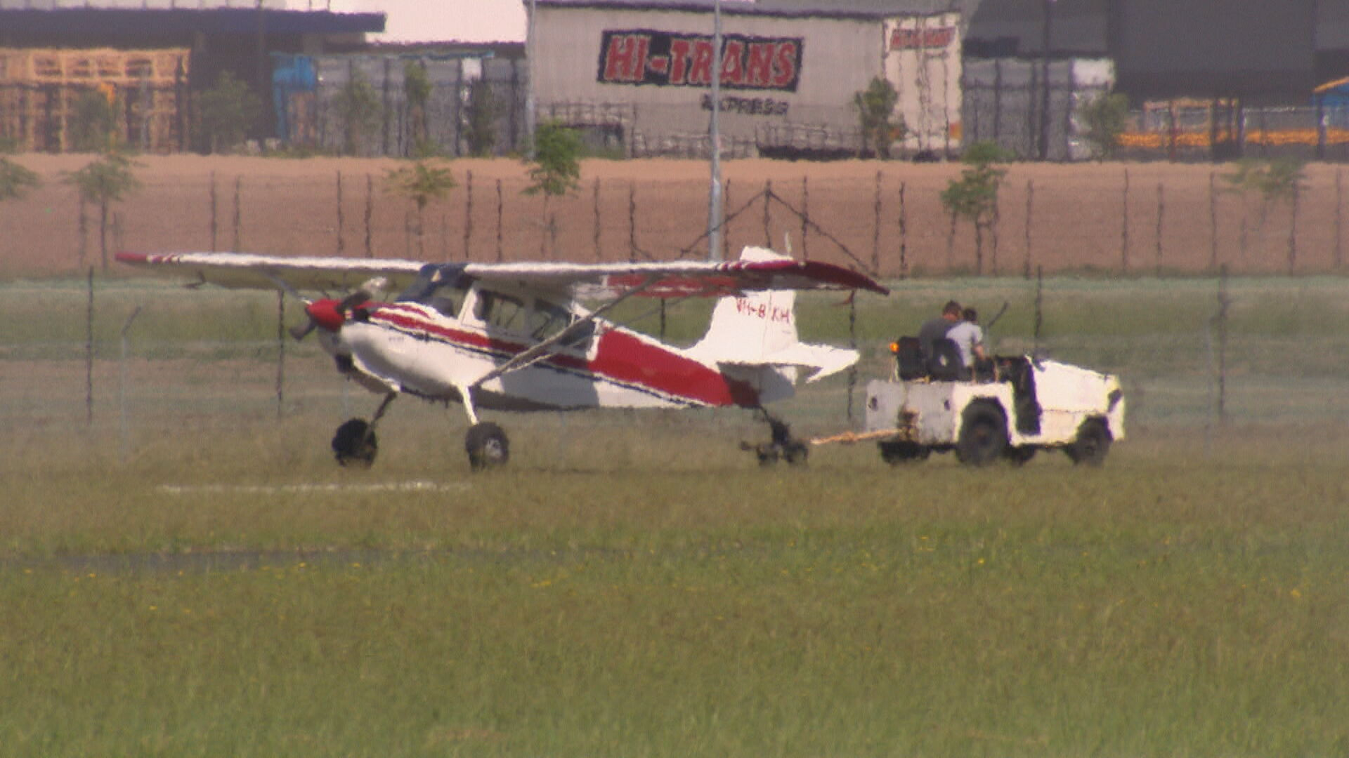 The 51-year-old pilot of the plane managed to escape with minor injuries.