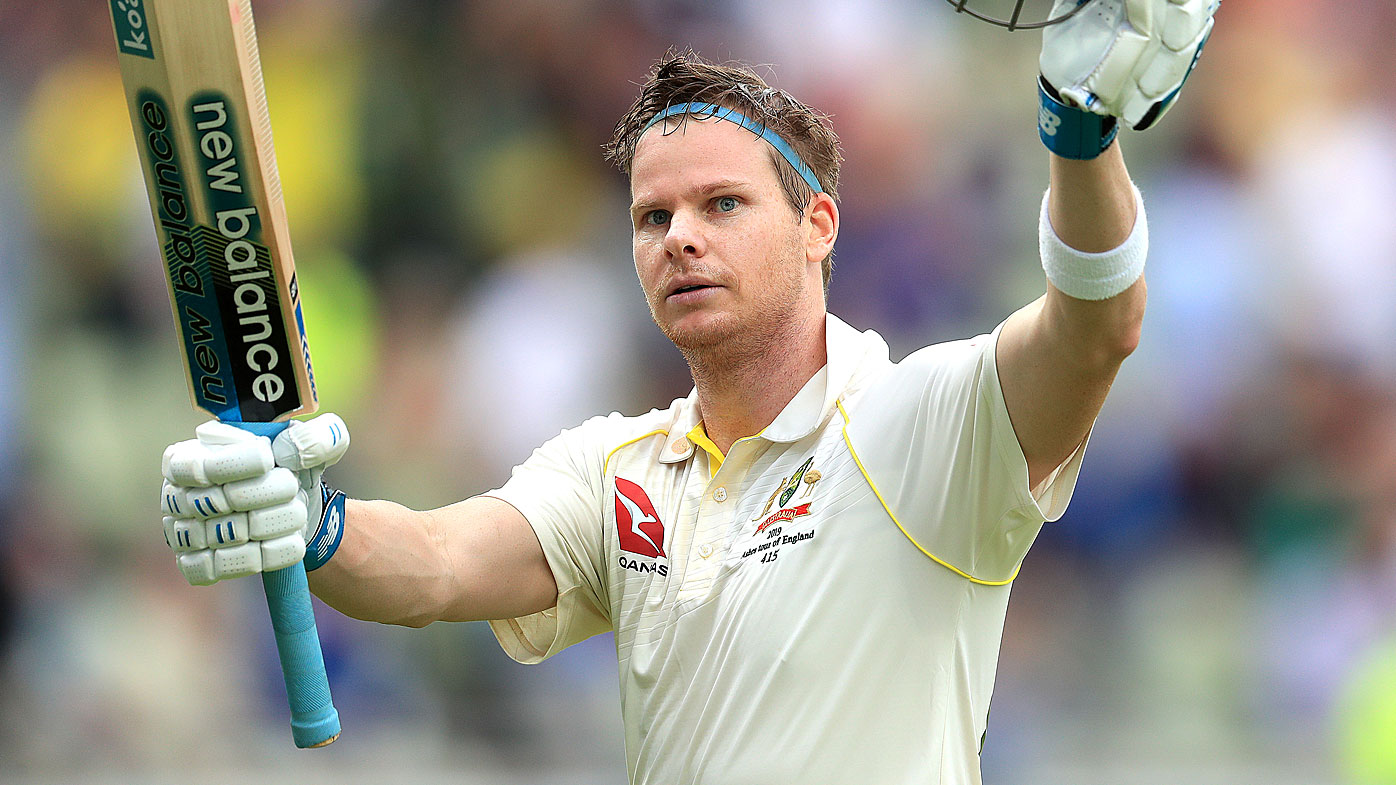 Steve Smith celebrates an Ashes century in his Test cricket comeback