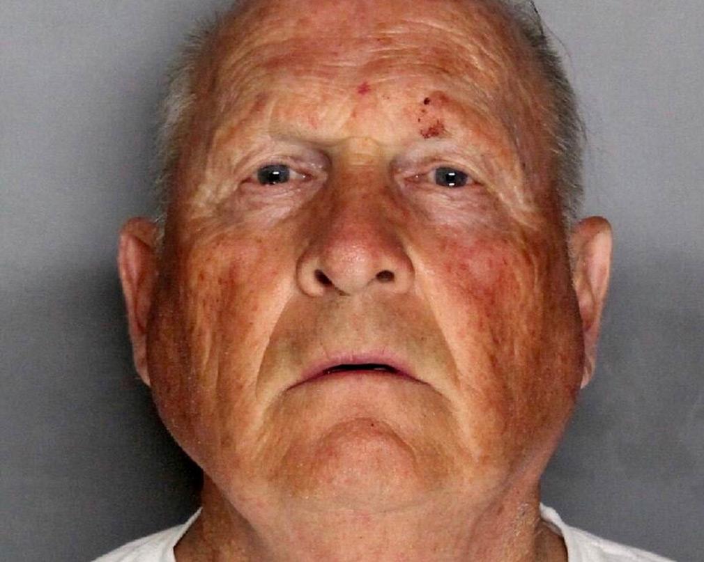 The booking photo of Joseph James DeAngelo, 74, in Sacramento, California.