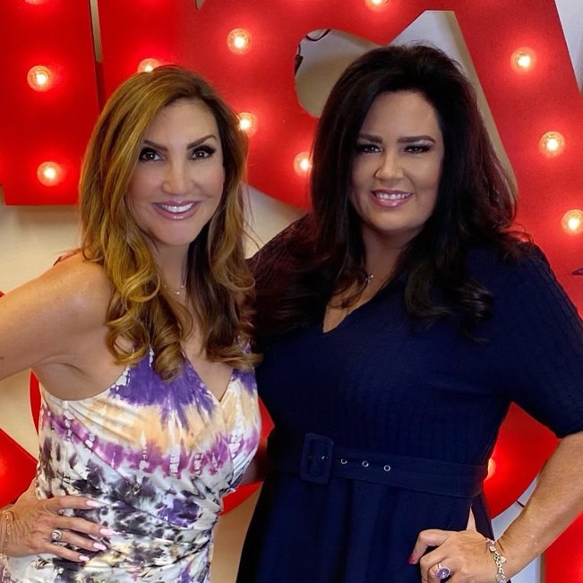 Kim Archie (right) appeared on Heather McDonald's Juicy Scoop podcast on July 20.