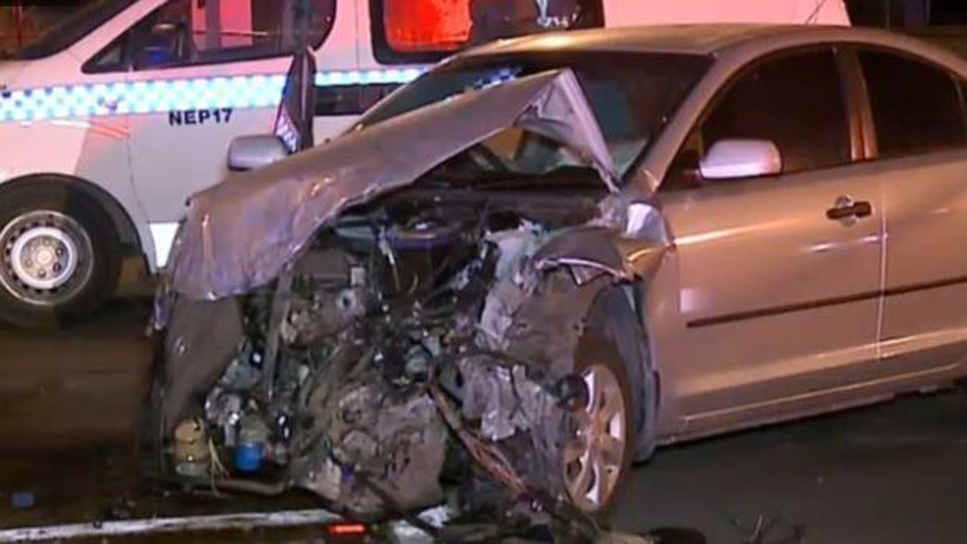 Elderly driver sideswiped by police car
