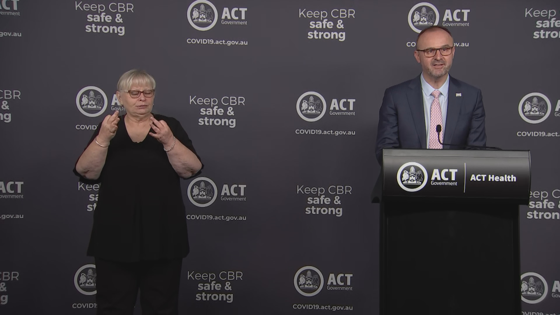 ACT Chief Minister Andrew Barr giving today's coronavirus update.