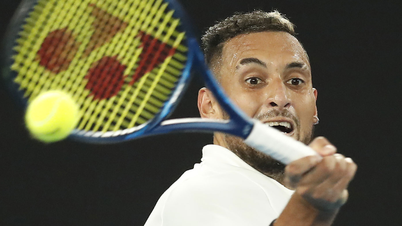 Nick Kyrgios 'feels the support,' wins Australian opener