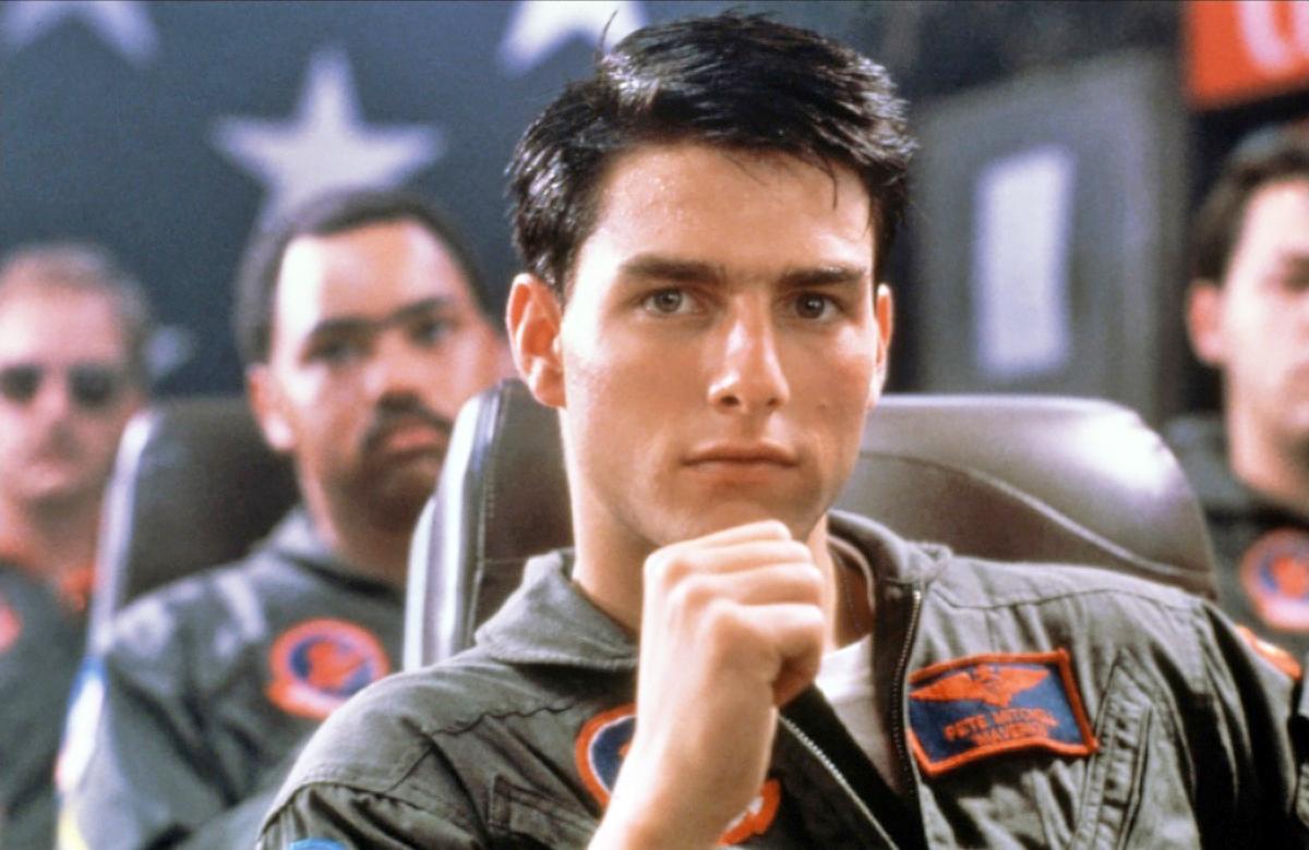 Tom Cruise plays Lieutenant Pete 'Maverick' Mitchell in Top Gun.