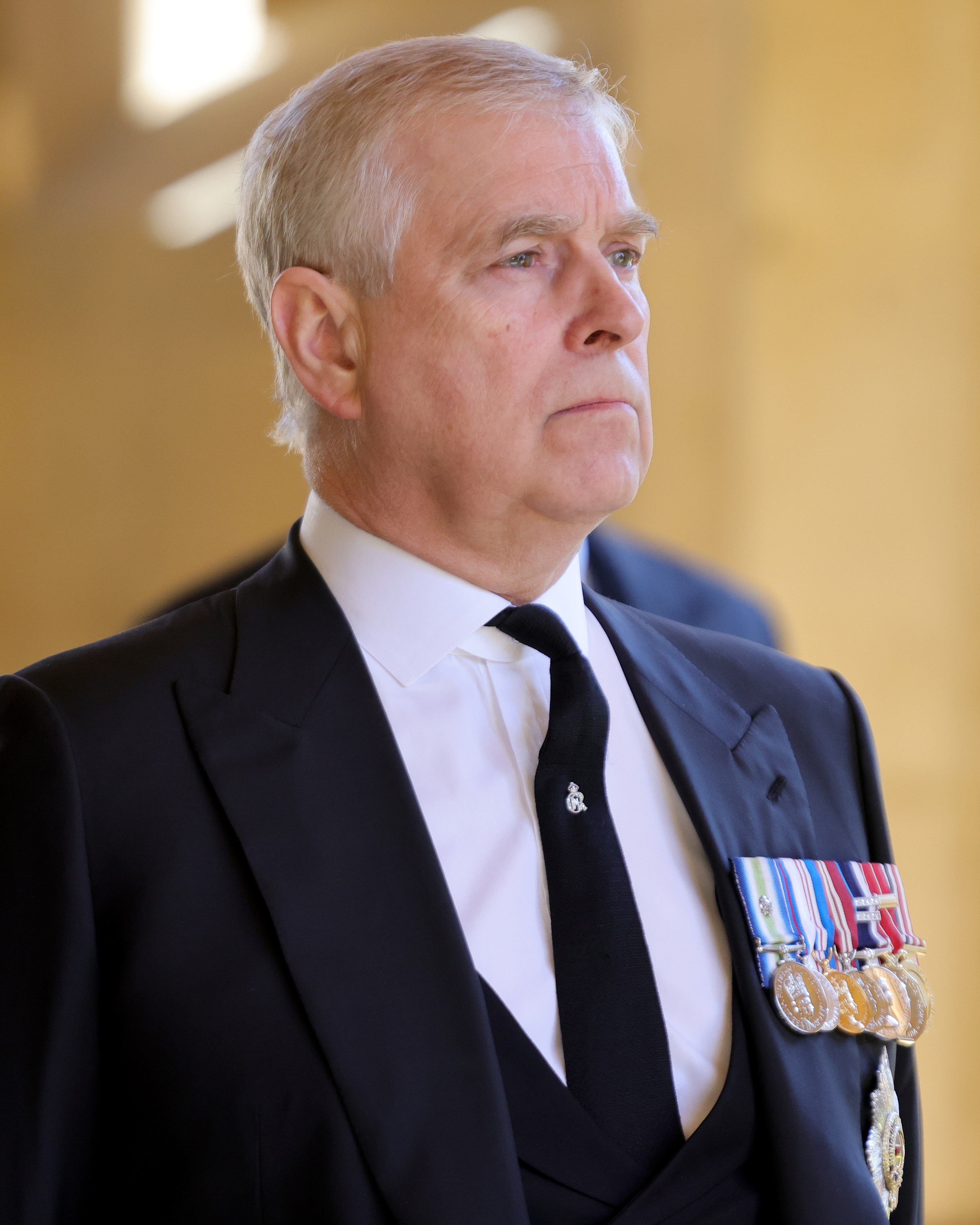 Prince Andrew Prince Philip funeral