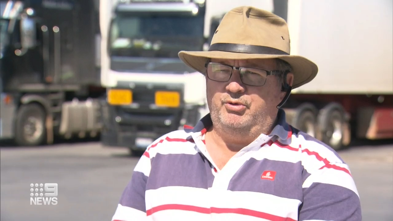 A pub's temporary ban on interstate truck drivers stopped Ian Howard in his tracks last night.