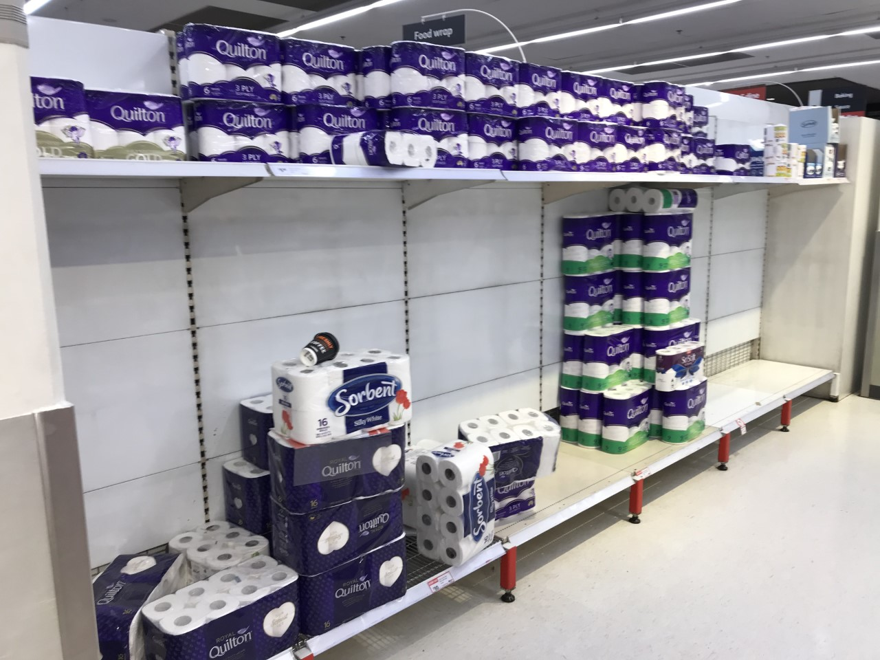 Panic-buying toilet paper Broadway, Sydney.