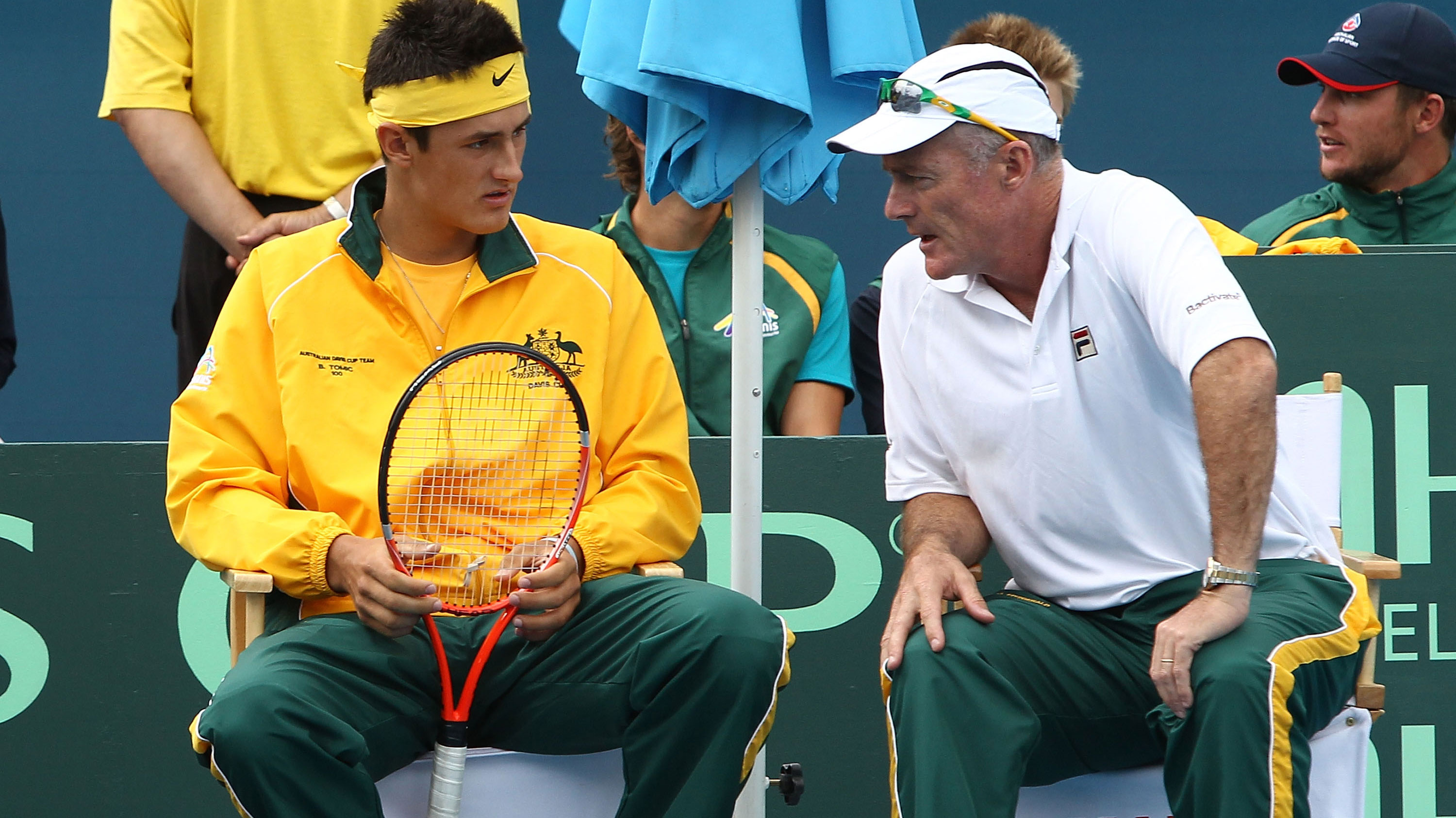 Bernard Tomic was once mentored by John Fitzgerald, then Davis Cup captain.