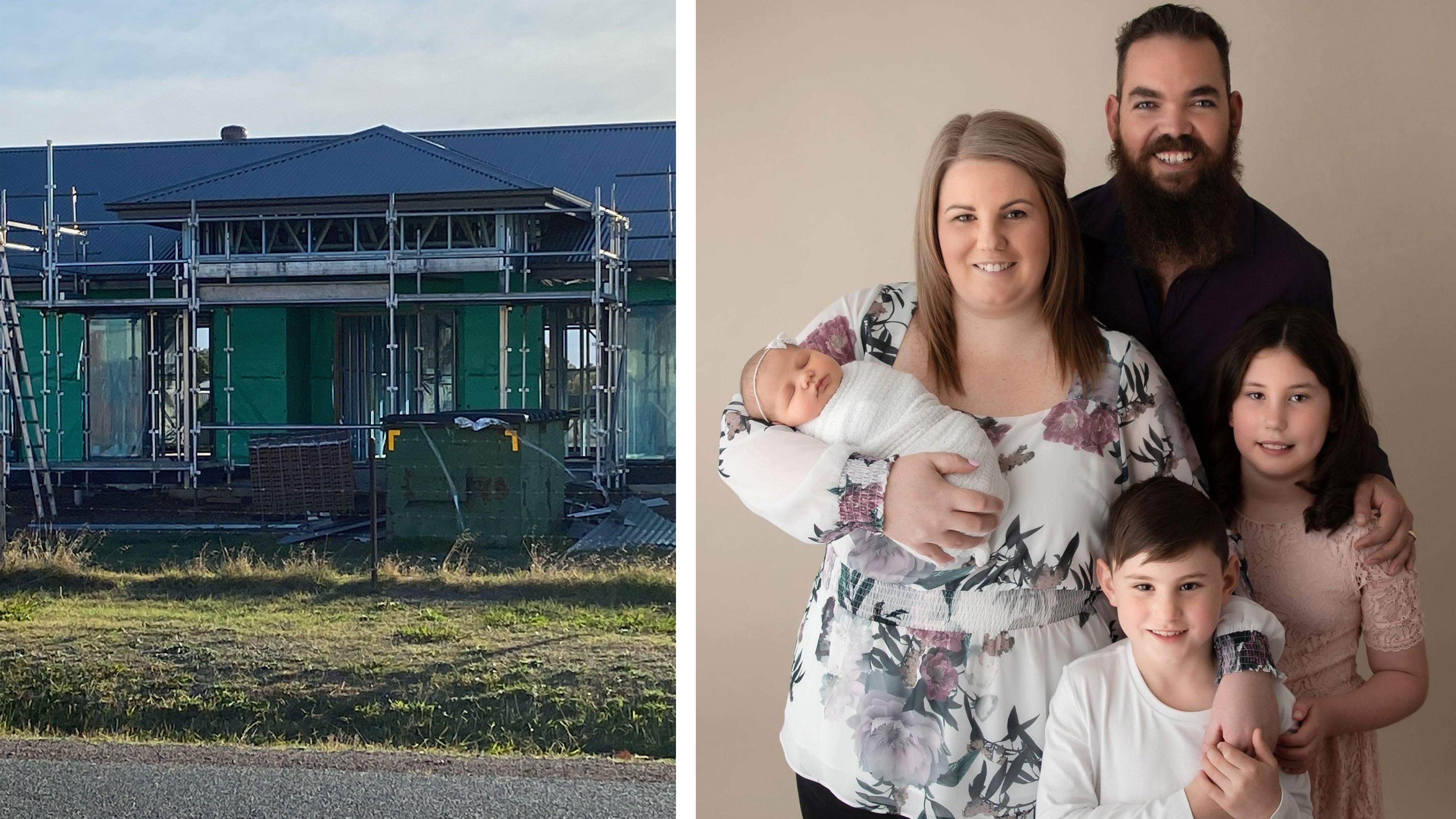 Kassie Suter and her husband thought they had successfully applied for the HomeBuilder grant but were told there was no record of their application.