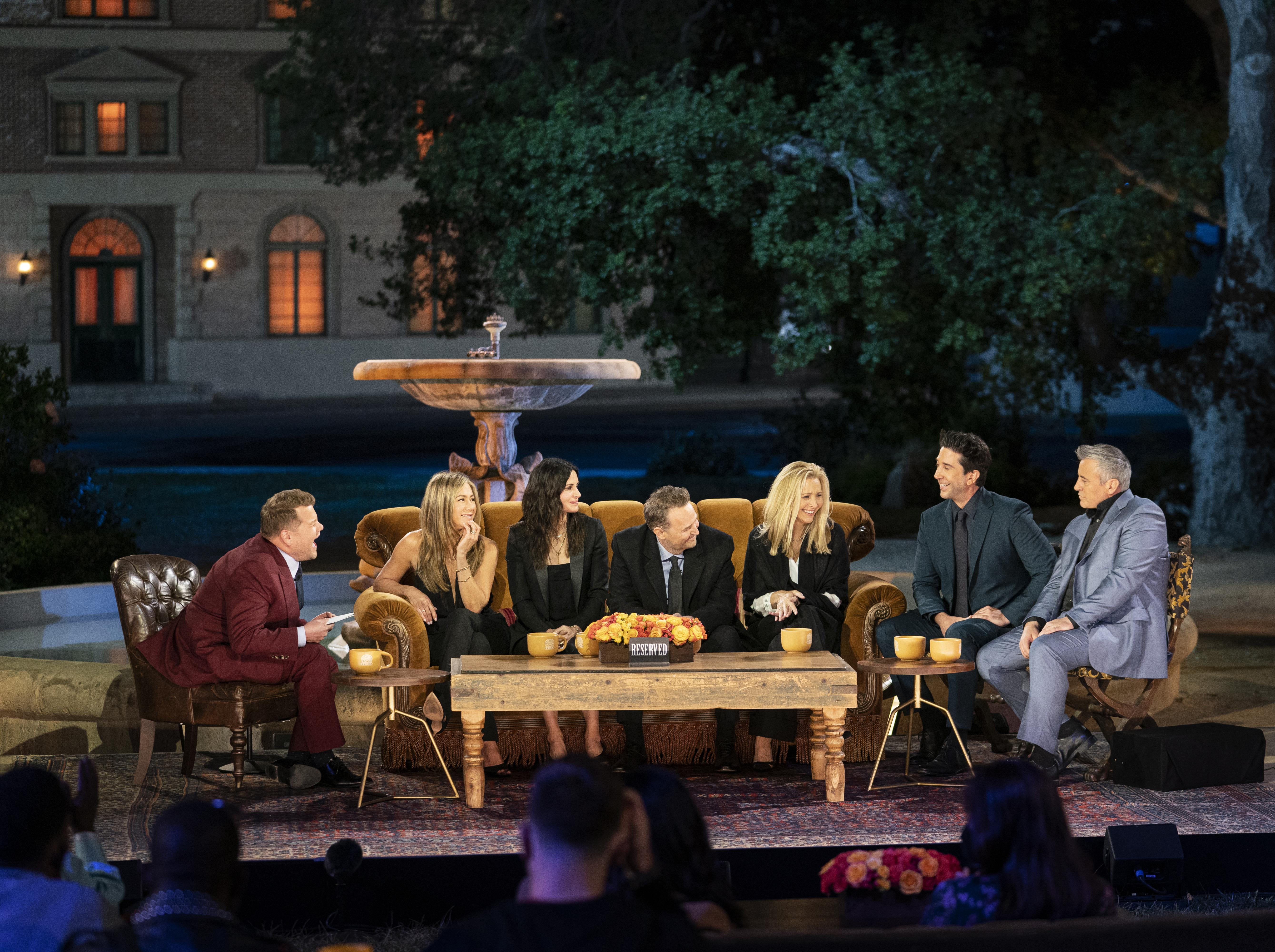 James Corden hosts Friends: The Reunion.