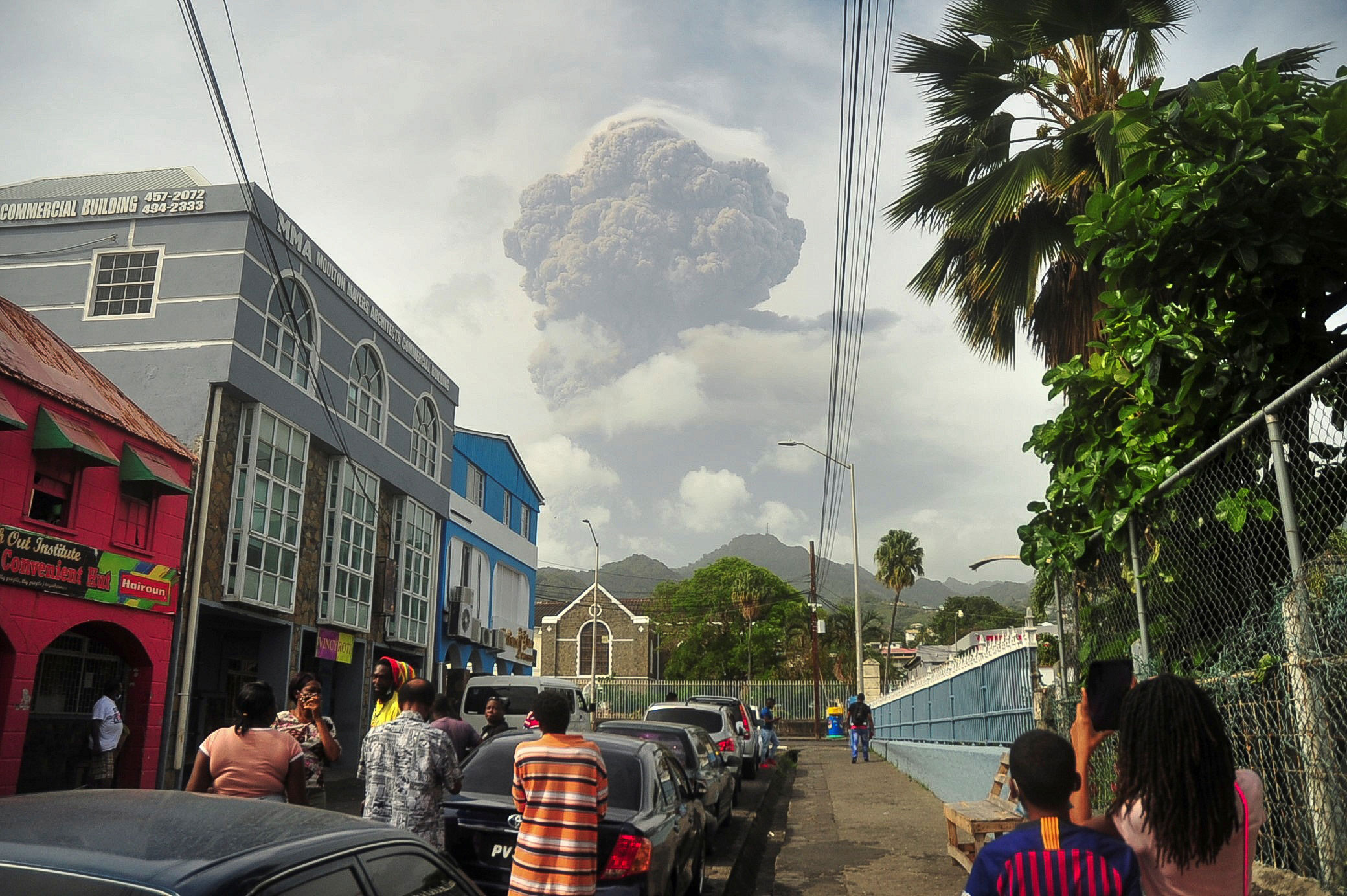 Thousands threatened as Caribbean volcano erupts three times