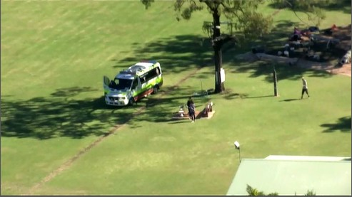 Paramedics arrived on scene near the Brisbane Valley Highway at Toogoolawah at 11.15am, where they treated a man for multiple serious injuries.