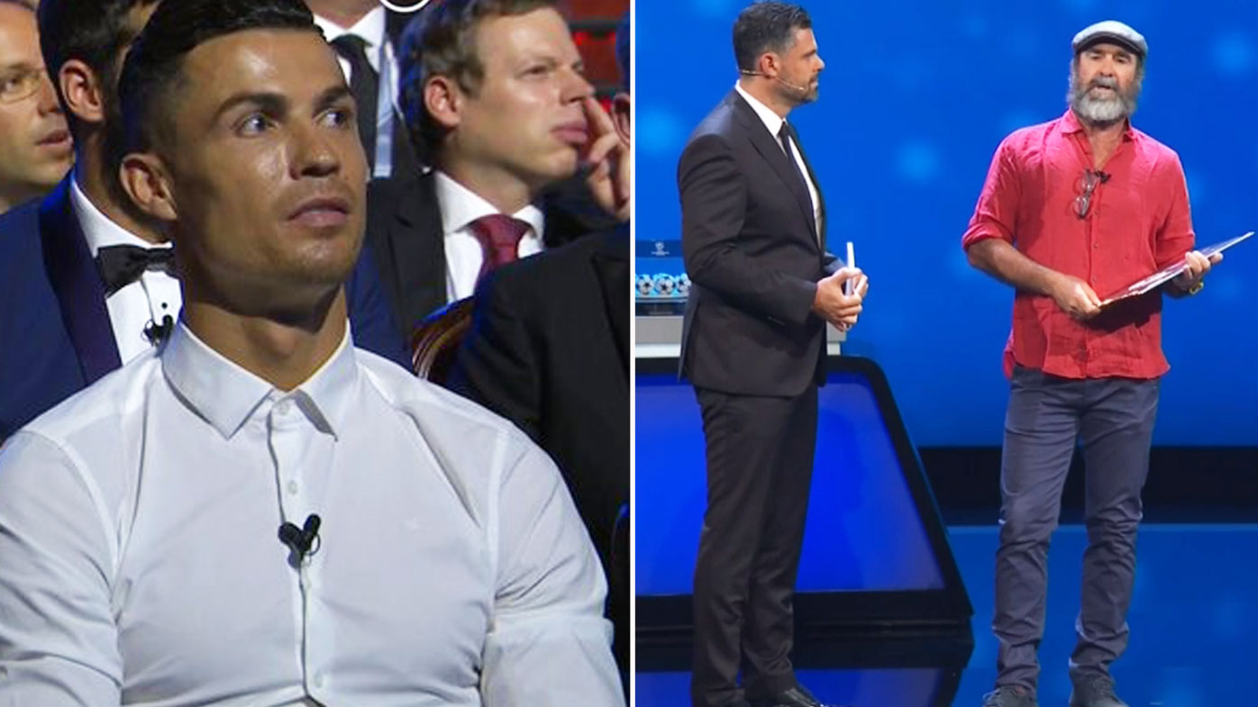 Ronaldo reacts to Cantona's stunnig speech