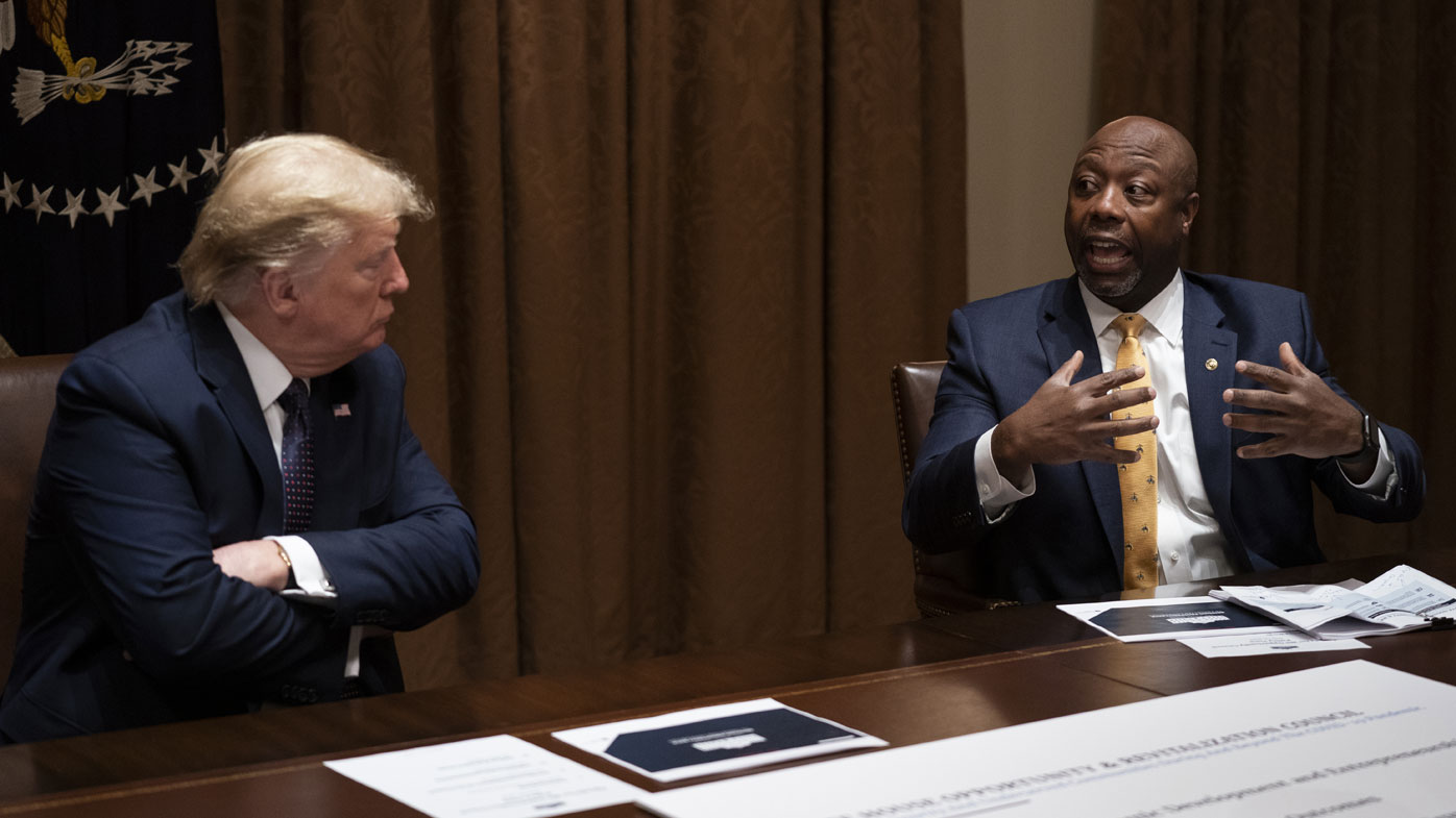 The Republican Party's only black senator, Tim Scott, was offended by Joe Biden's remarks.