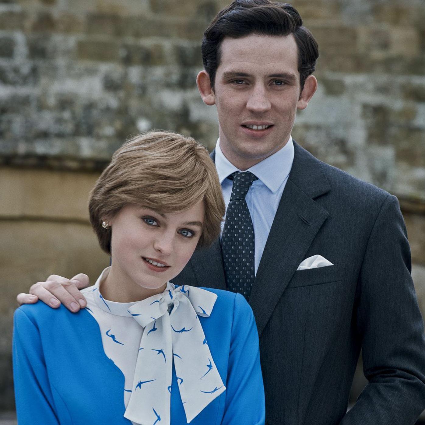 The Crown's Prince Charles and Princess Diana.