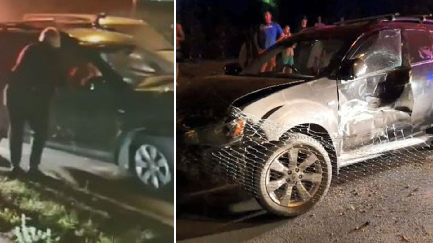 Policewoman drags wanted man out of stolen car after Brisbane joyride