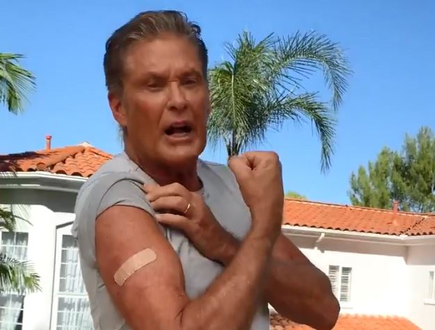 David Hasslehoff COVID-19 vaccination PSA for Germany
