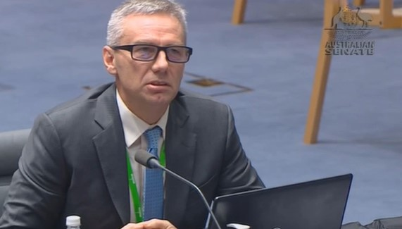 Australian National Audit Office's Brian Boyd during a Senate committee appearance in July.