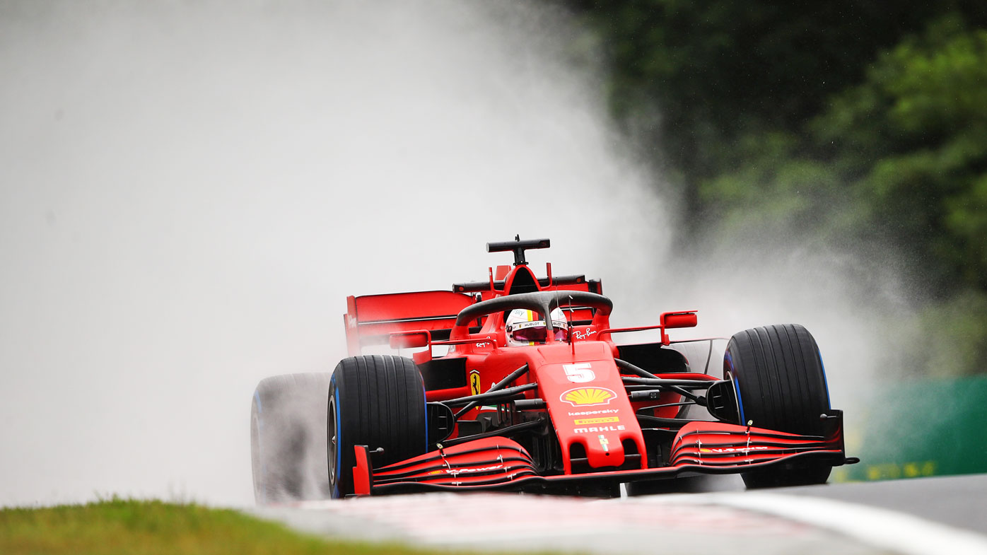 F1 News Sebastian Vettel Fastest In Treacherous Conditions At Hungarian Grand Prix