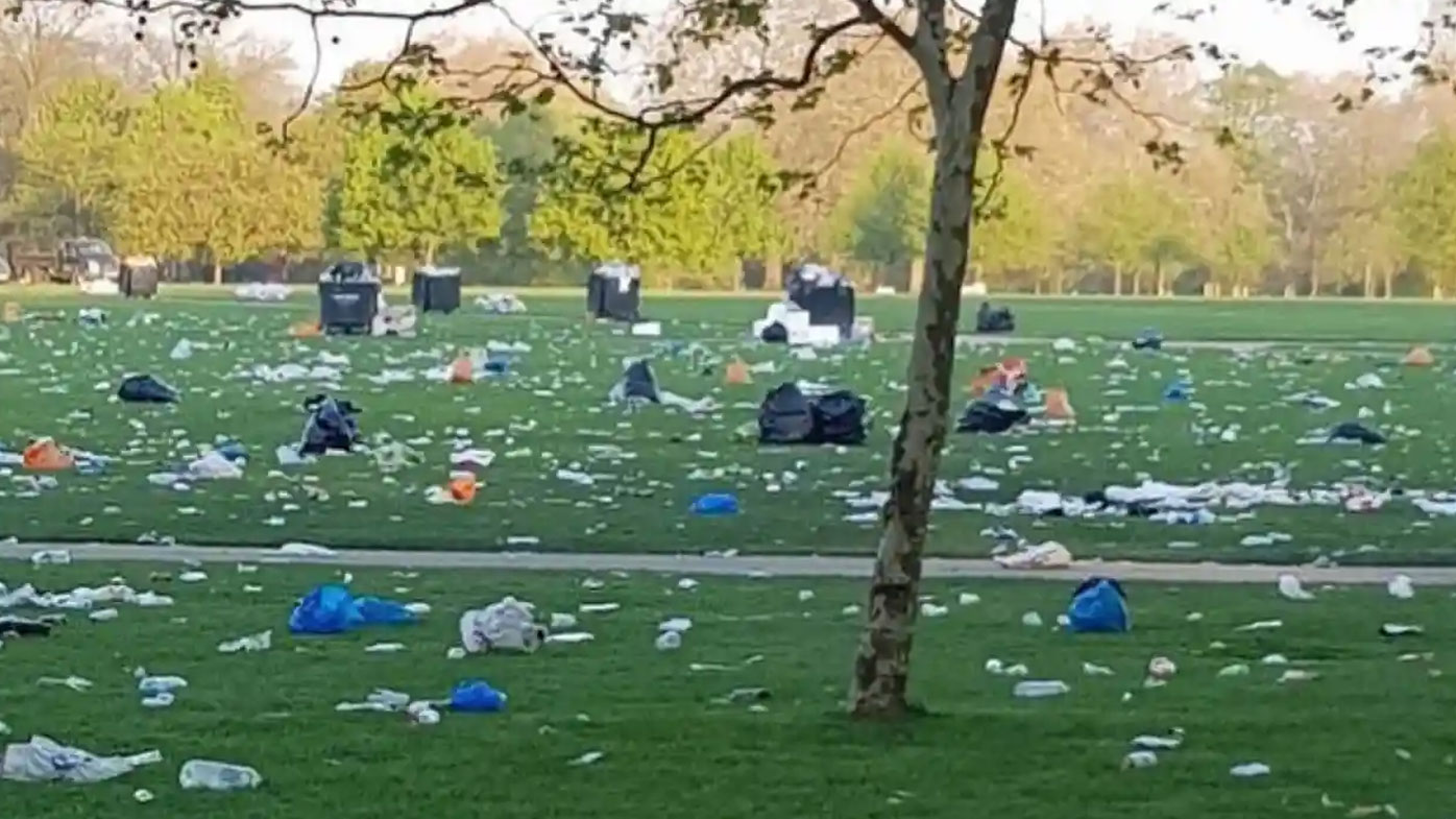 Photo claiming to show climate strike rubbish a hoax
