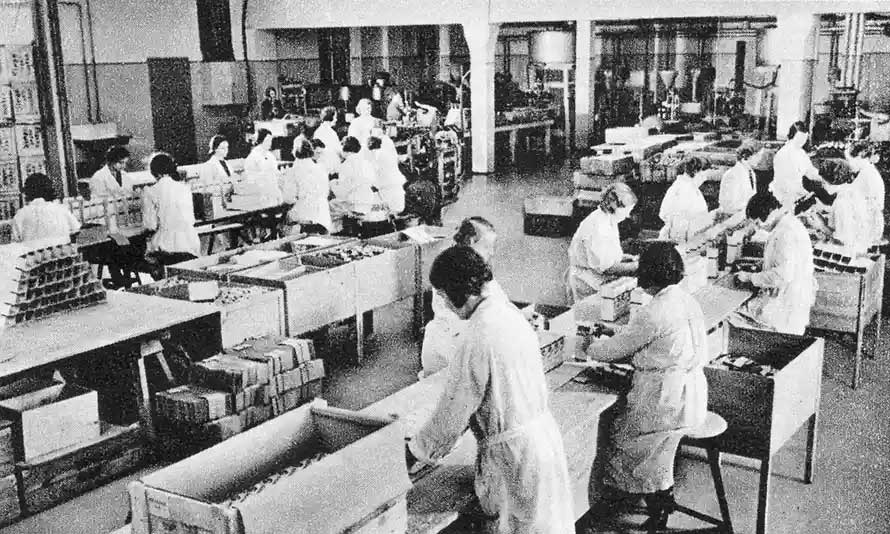 The Temmler factory where Pervitin was manufactured.
