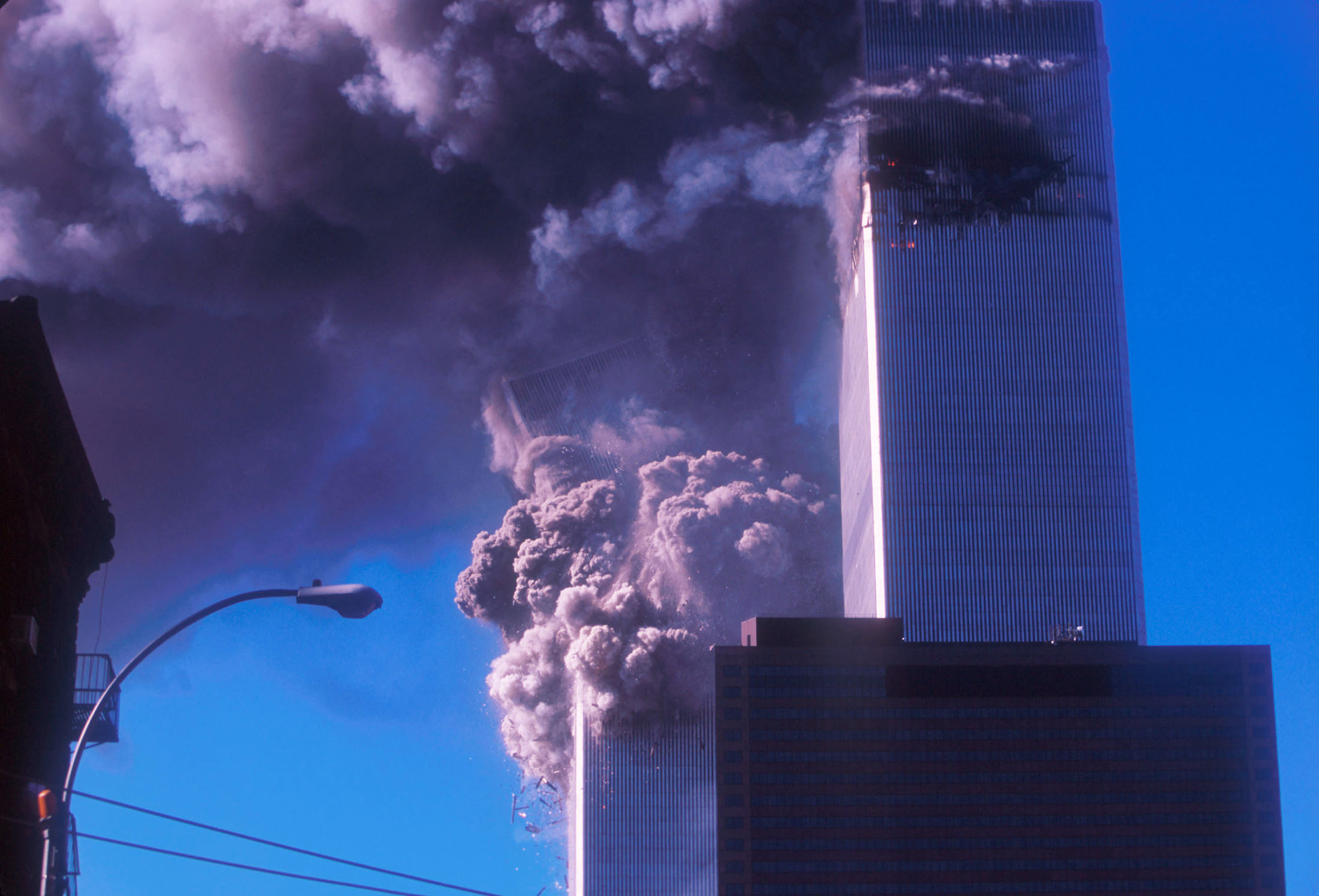 Although it was hit after the North Tower, the South Tower of the World Trade Center was the first to crash to the ground on September 11.