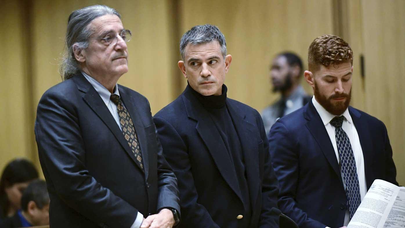 Fotis Dulos (centre) is accused of killing his estranged wife.