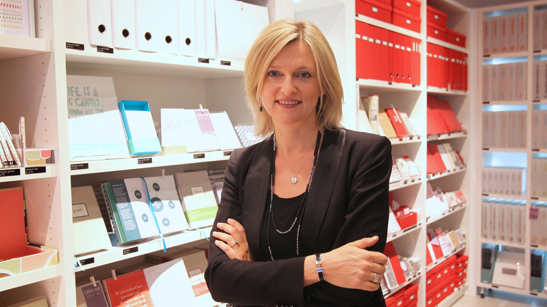Kristina Karlsson, from the kikki.K office supplies retail chain.